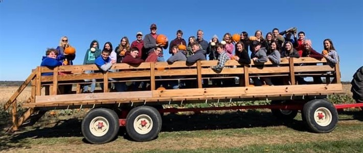 WCHS Students for Christ visit the pumpkin patch.