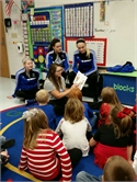 Wolfe County High Volleyball Players Volunteer at Elementary Schools