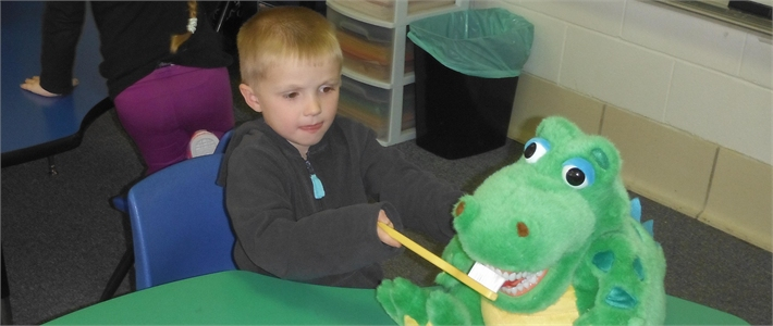 Red River Valley Students Learn about proper dental care.