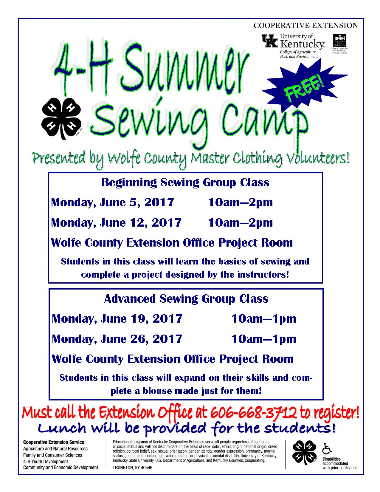 4-H Summer Sewing